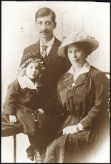 The young Alfie and his parents