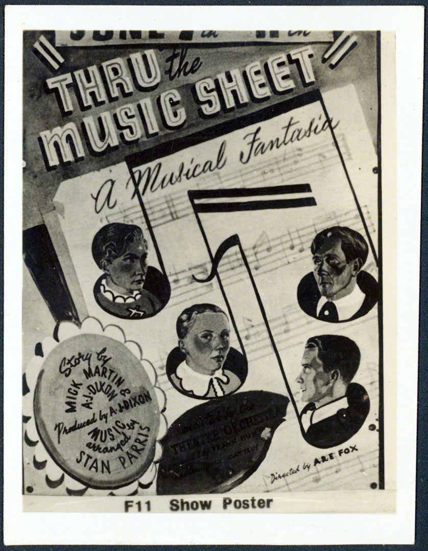 Thru The Music Sheet show poster
