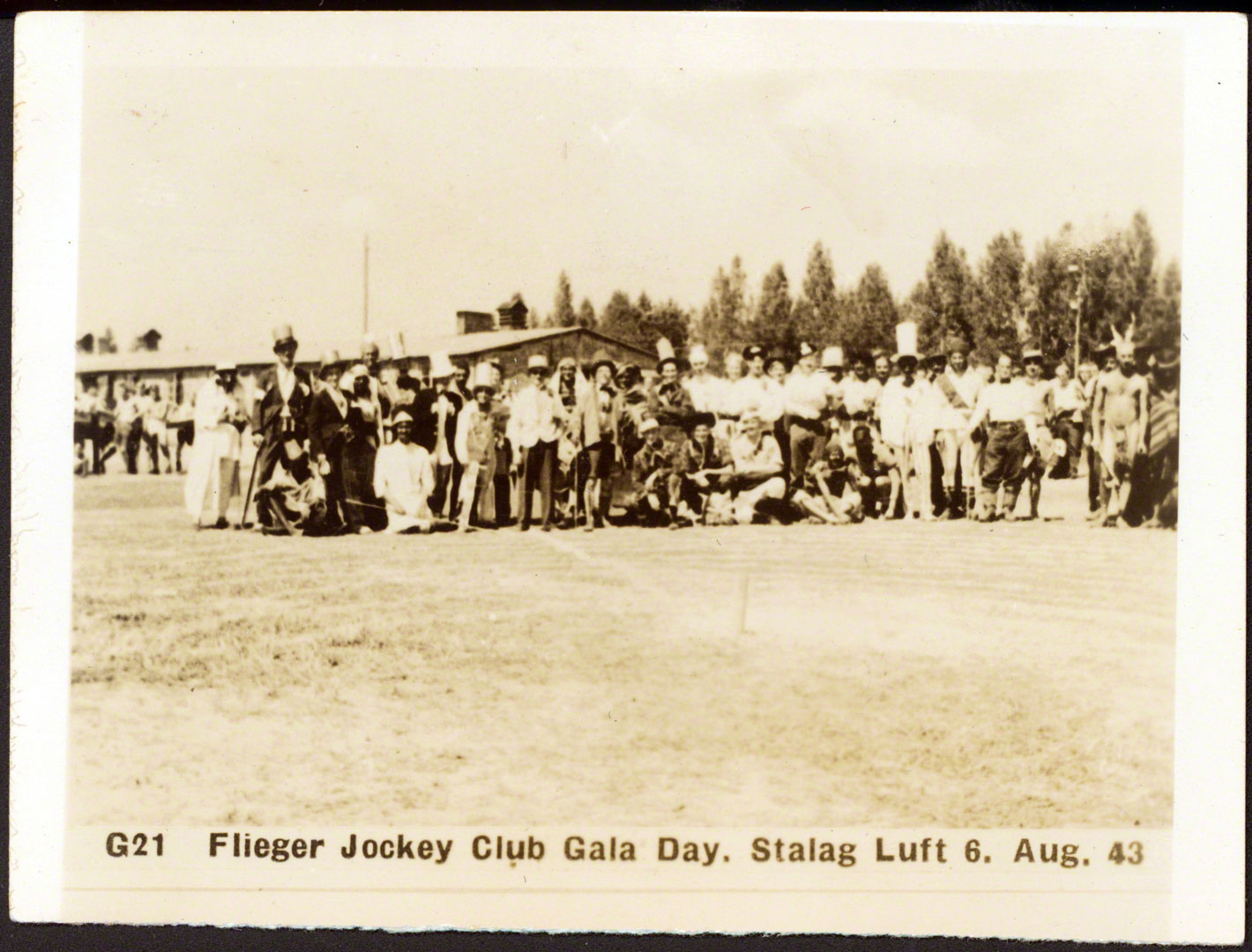 The whole cast and crew from the Flieger Jockey Vlub Day
